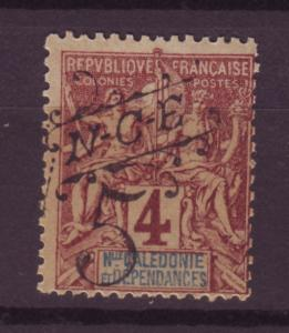 J13566 JLstamps 1900-1 new caledonia used #60 ovpt