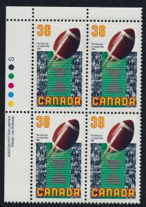 Canada 1154 TL Plate Block MNH Sports, Football, The Grey Cup