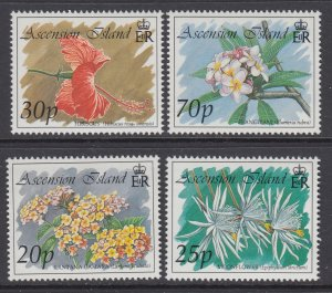 Ascension 566-569 Flowers MNH VF