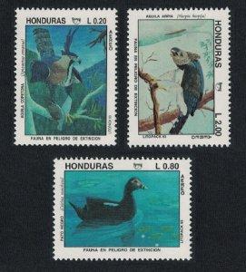 Honduras Duck Hairy Eagle Birds 3v 1993 MNH SG#1266-1268 MI#1217-1219