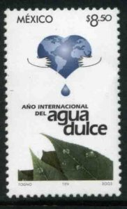 MEXICO 2343, International Year of Fresh Water. MINT, NH. VF.