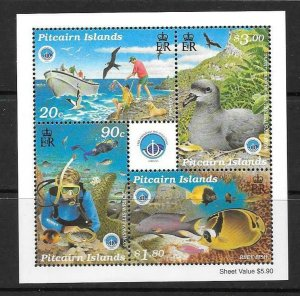 PITCAIRN ISLANDS SGMS543 1998 INT. YEAR OF THE OCEAN MNH