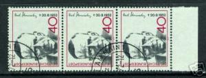 709C GERMANY 1093 CTO STRIP OF 3