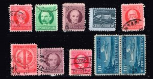 CUBA STAMP USED STAMPS LOT   #W1