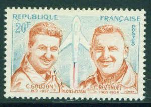 FRANCE Scott 925 MNH** Rocket test Pilot stamp 1959