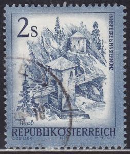 Austria 961 USED 1974 Inn Bridge, Alt Finstermunz