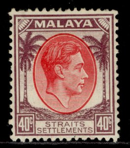 MALAYSIA - Straits Settlements GVI SG288, 40c, M MINT. Cat £19.