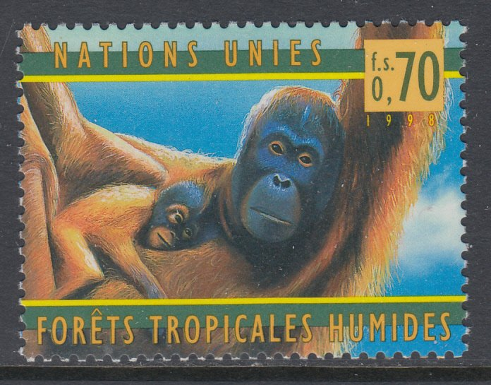 United Nations Geneva MNH 323 Orangutans 1998