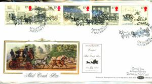 Great Britain (3) Beautiful Silk FDC's