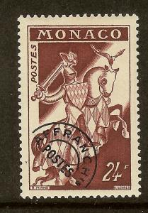 Monaco, Scott #324, 24fr Knight in Armor, Unused Precancel