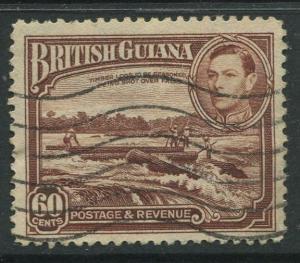 British Guiana - Scott 237 - KGVI- Definitive -1938 - FU - Single 60c Stamp
