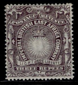 BRITISH EAST AFRICA QV SG17, 3r slate-purple, M MINT. Cat £14.