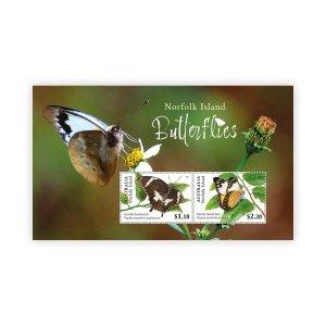 Stamps of Australia 2021- Norfolk Island Butterflies Mini sheet.
