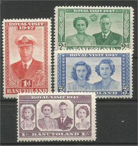BASUTOLAND, 1947, MNH set, Royal Family,  Scott 35-38