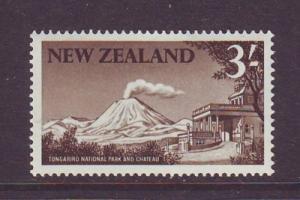 New Zealand Sc 349 1960 3/ volcano stamp NH