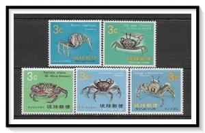 Ryukyu Islands #173-177 Crabs Set MNH