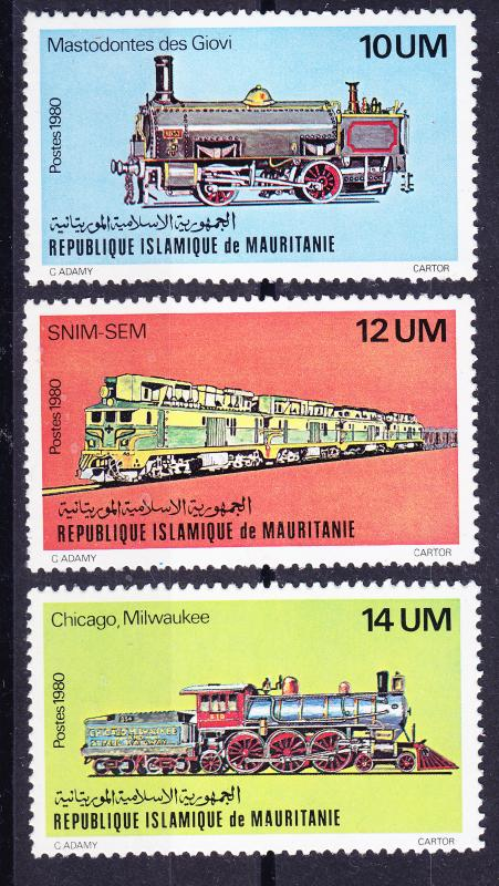 Mauritania 1980 Vintage Locomotives VF/NH(**)
