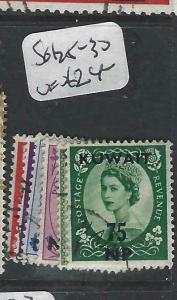 KUWAIT (P1804B)  ON GB  QEII   SG 125-130   MOG
