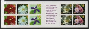 Guernsey Sc 821a 2004 Flower stamp booklet mint NH