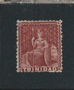 TRINIDAD 1863-80 (1d) LAKE MM SG 69 CAT £65