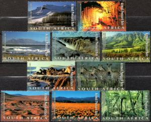 South Africa - 2001 Natural Wonders Set MNH** SG 1350-1359