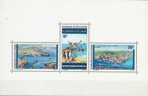 Ivory Coast, Sc 399 (1), MNH, 1975, Harbor