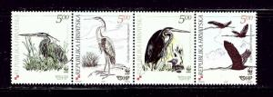 Croatia 545 MNH 2004 Birds strip of 4