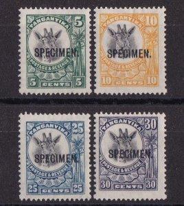 TANGANYIKA 1925 Giraffe set 5c-30c SPECIMEN