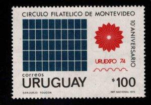 Uruguay Scott 890 URUEXPO 74 stamp