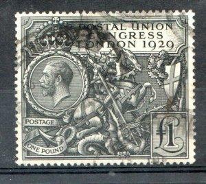 1929   S.G:438 - KING GEORGE V -  £1 P.U.C. - USED