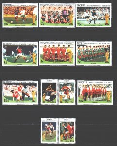 Saint Vincent and the Grenadines. 1986. 177-88. Mexico soccer world cup. MNH.