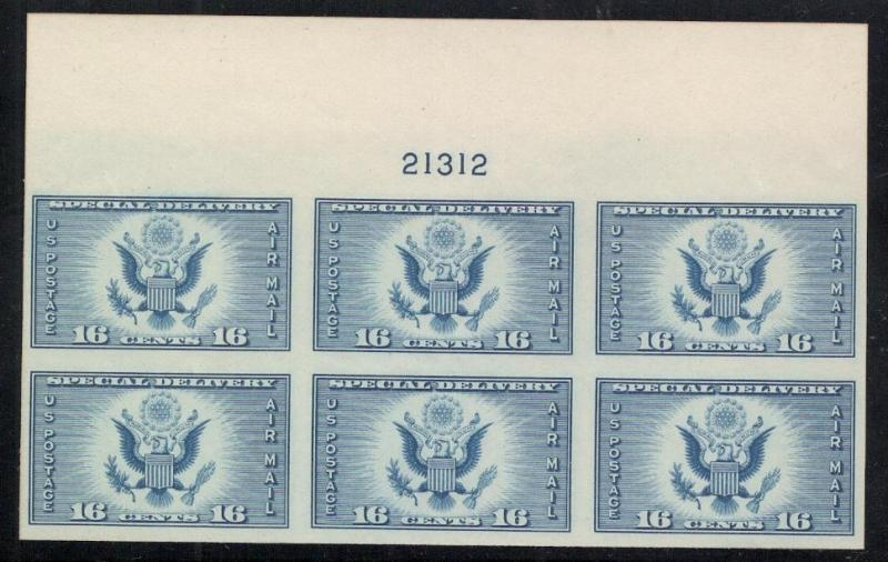 #771 - Air Post Special Delivery - Imperf. - Plt.# Blk. of 6