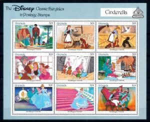 [62820] Grenada 1987 Disney Classic - Cinderella Sheet MNH