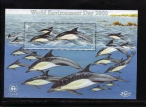 Jersey Sc 957 2000 dolphins stamp sheet mint NH