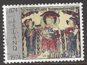 Iceland 1974 100k Church Sculpture, used, Scott #471