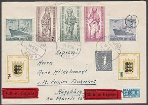 GERMANY 1956 Registered Express cover - nice franking.......................B336