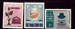 South Vietnam 298-300 MNH 1966 Unesco    (ap3356)