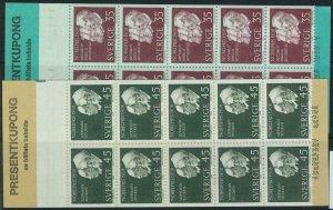 91441 - SWEDEN - STAMPS: Booklet   Mi # 626 / 27 - 1968 Nobel Prizewinners 1908