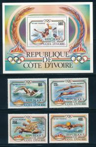 Ivory Coast - Los Angeles Olympic Games MNH Sports Set #C76-80 (1984)