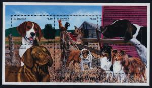 St Vincent 2583 MNH Dogs, Beagle, Sheepdogs