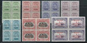 Germany Belgian Occupation 1N18-24 Eupen & Malmedy Overprint Block of 4 MNH (z2)