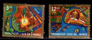 Norway - #1168 - 1169 City of Trondheim Millenium set/2 - Used