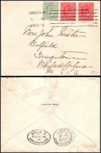 Goldpath: England cover 1906, to U.S.A. _CV15_P9