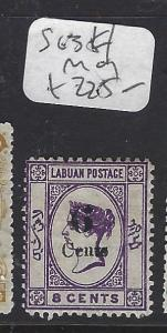 LABUAN   (P1709B)  QV  6C/8C  SG 34   MOG