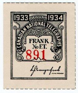 (I.B) Canada Telegraphs : Canadian National (1933)
