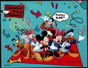 Poland #4079 var Souvenir/Mini Sheet Imperf MNH- Disney (2013)