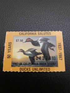 50 years California duck stamp