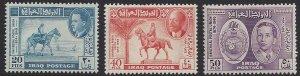 Iraq #130-2, MNH set, 75th anniversary UPU, issued 1949