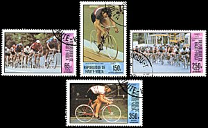Upper Volta C263-C266, CTO, Moscow Summer Olympics, Bicycling