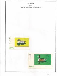 SCOTLAND - STAFFA - 1982 - Birds. Ducks - Souv, D/L Sheets - MLH
